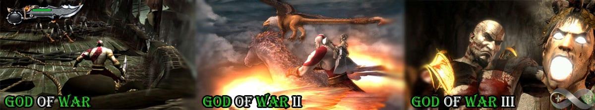 Imagens dos três primeiros games da série.