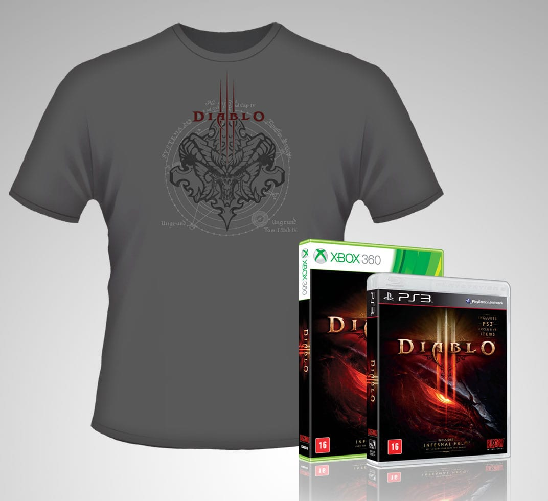 Brinde para quem compra Diablo 3 em pré venda no Brasil.