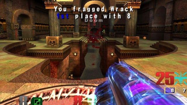 Quake 3 Arena foi um dos grandes sucessos do console principalmente por ser um game multiplayer.