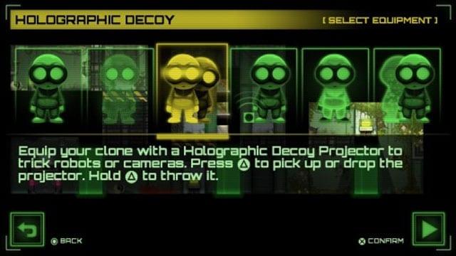 Cada equipamento liberado modifica a jogabilidade.