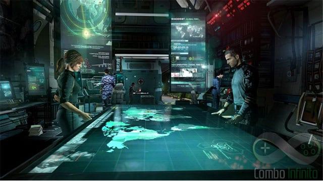 Todas as decisões são tomadas aqui, no Paladino. O avião é uma referência clara à Normady de Mass Effect.