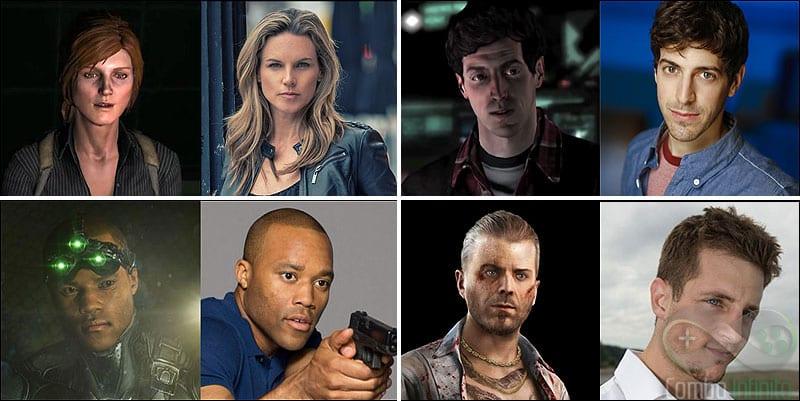 Atores e personagens da versão americana. Incrível como o Briggs (inferior à esquerda) está IGUAL!