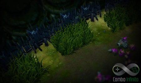 Agora com três arbustos para poder se esconder!