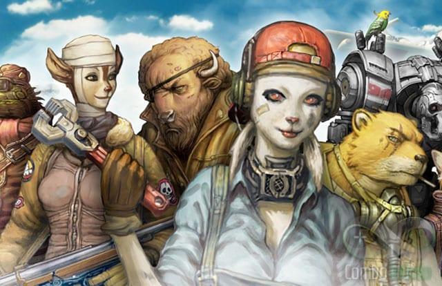 Os personagens do jogo.