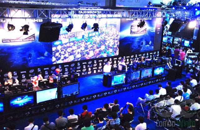A estrutura que a Intel monta para os campeonatos é impecável!