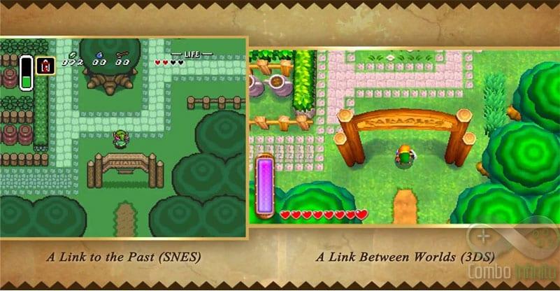 Uma comparação marota entre o Zelda de SNES e a nova versão do 3DS. Ambos sensacionais!