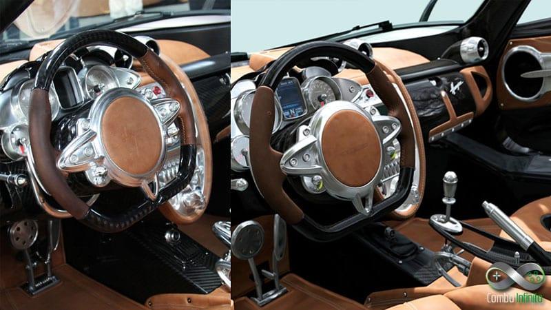 Comparação entre o carro real e o virtual de GT 6.