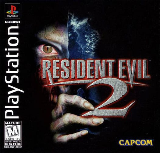 Resident Evil 2 e sua capa para PSOne.