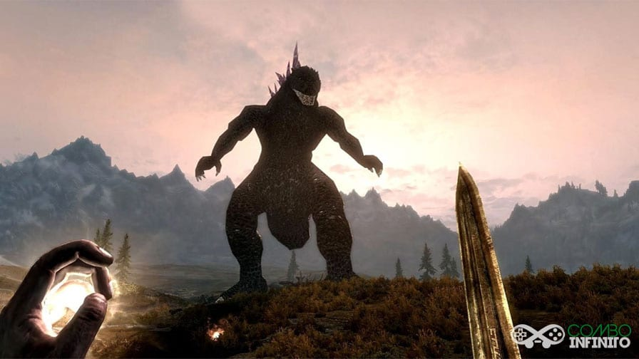 Godzilla-da-as-caras-em-novo-Mod-de-Skyrim