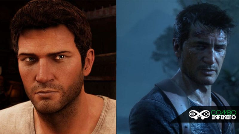 Comparação entre Drake de Uncharted 3 e do 4.