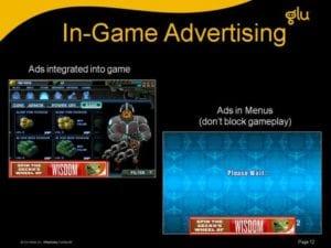 comercial em games da glu