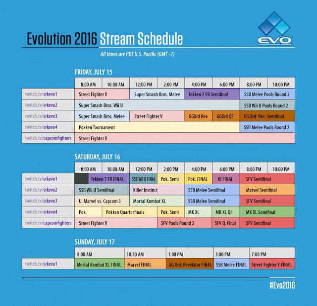 evo-stream-schedule