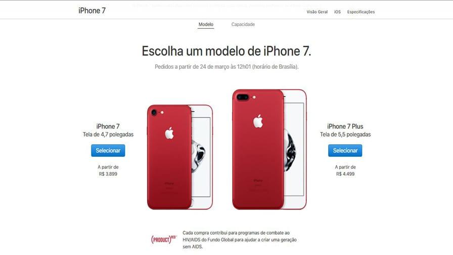 Apple lança iPhone vermelho contra a Aids