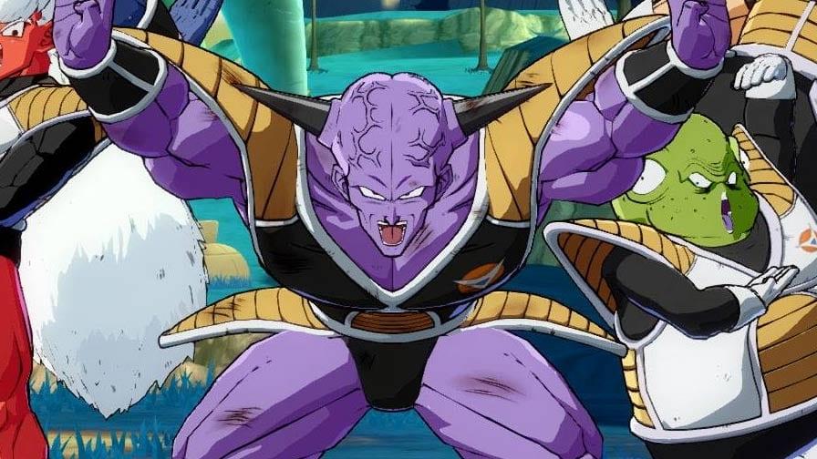 Ginyu e suas poses em Dragon Ball FighterZ