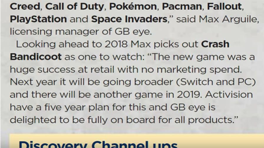 Possível novo jogo em 2019 e N.Sane na Switch — Crash Bandicoot