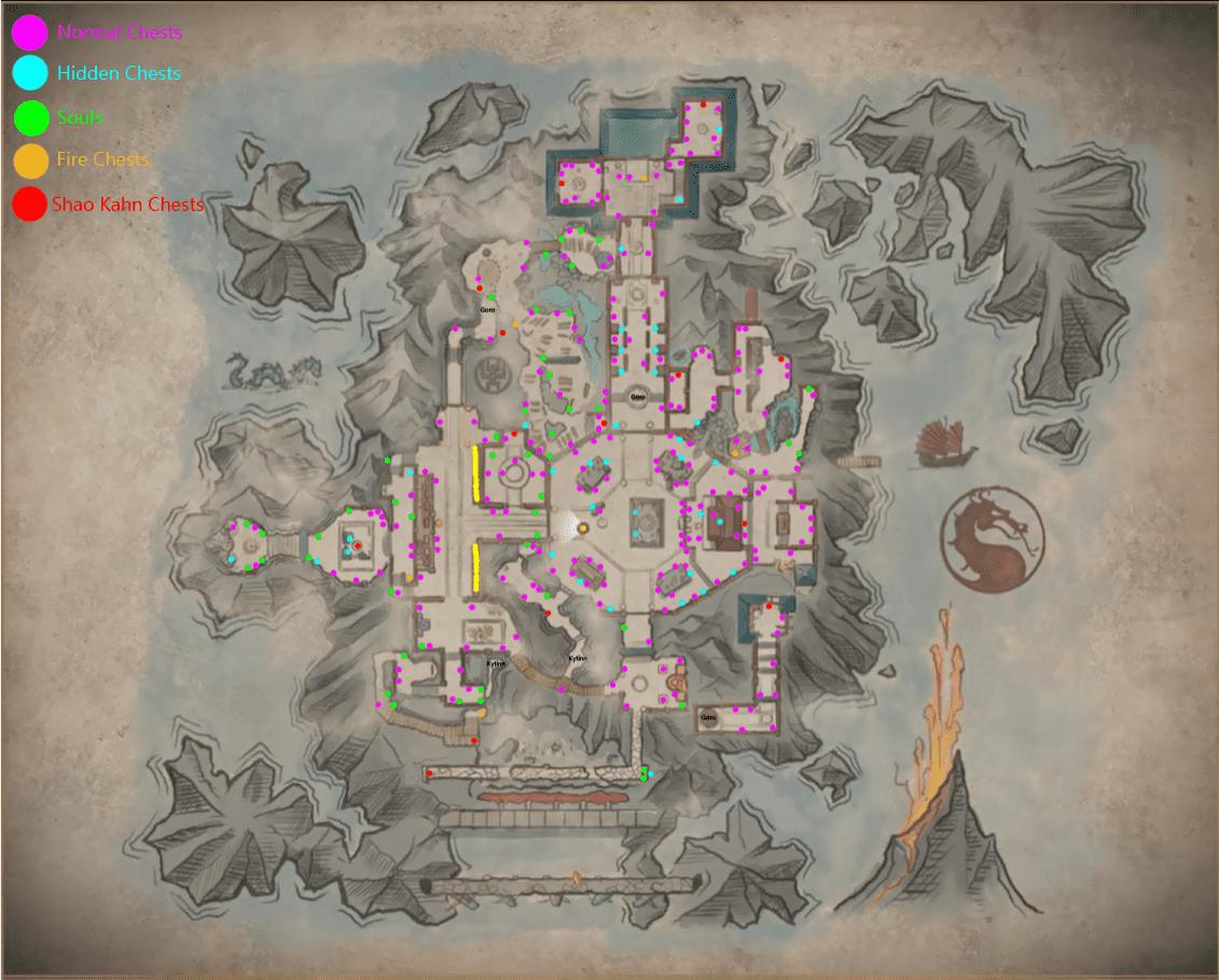 Mortal Kombat 11: Veja a localização de todos os baús da KRIPTA
