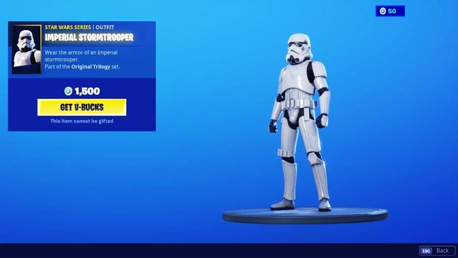 Crossover de Star Wars com Fortnite