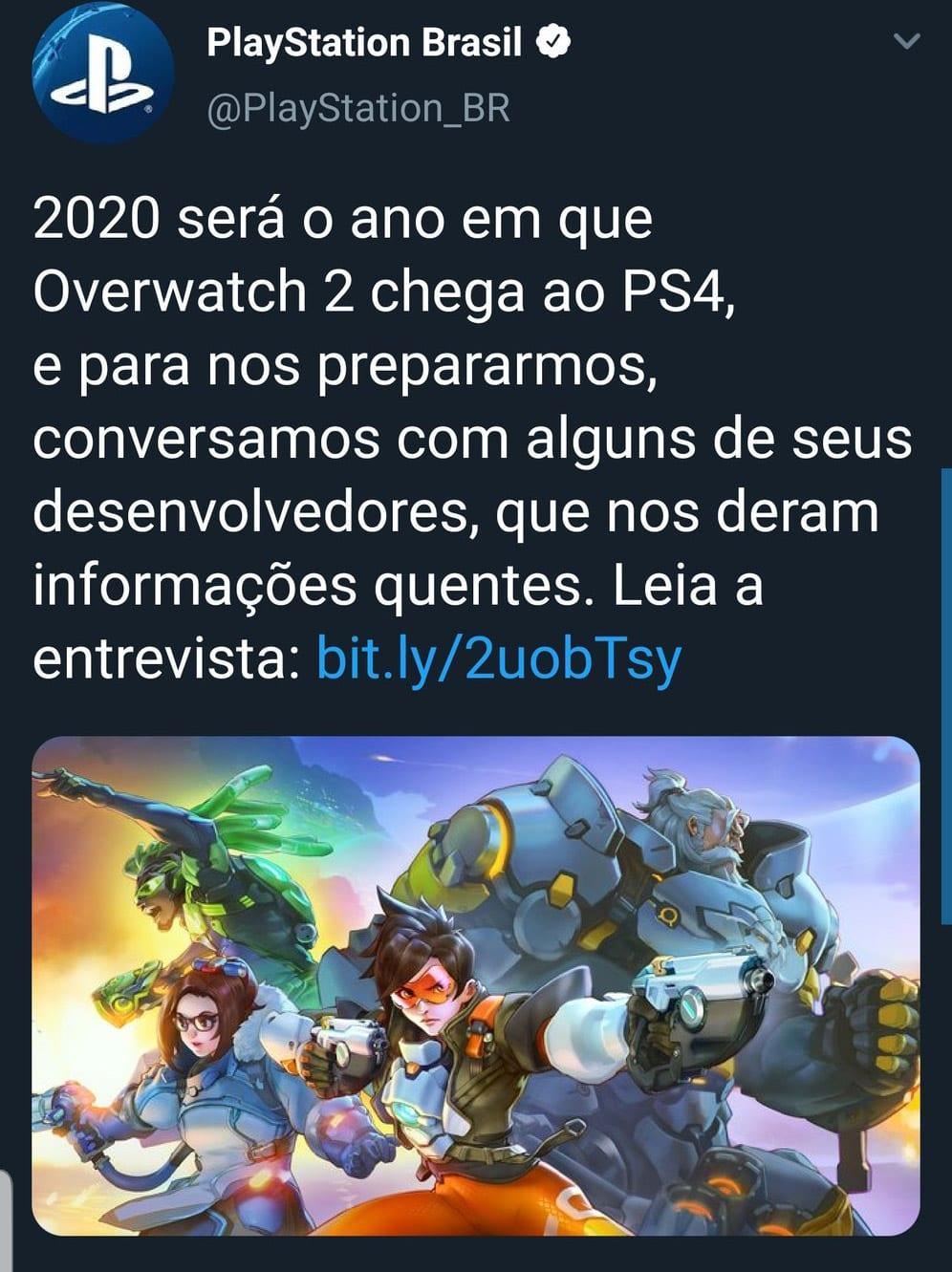 PlayStation confirma que Overwatch 2 vai chegar em 2020