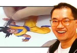 Akira Toriyama (criador de Dragon Ball) desenhando Goku