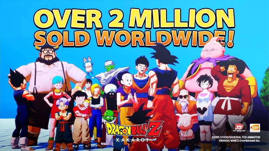 Dragon Ball Z Kakarot da Bandai Namco e da CyberConnect2 vendeu mais de 2 milhões de unidades