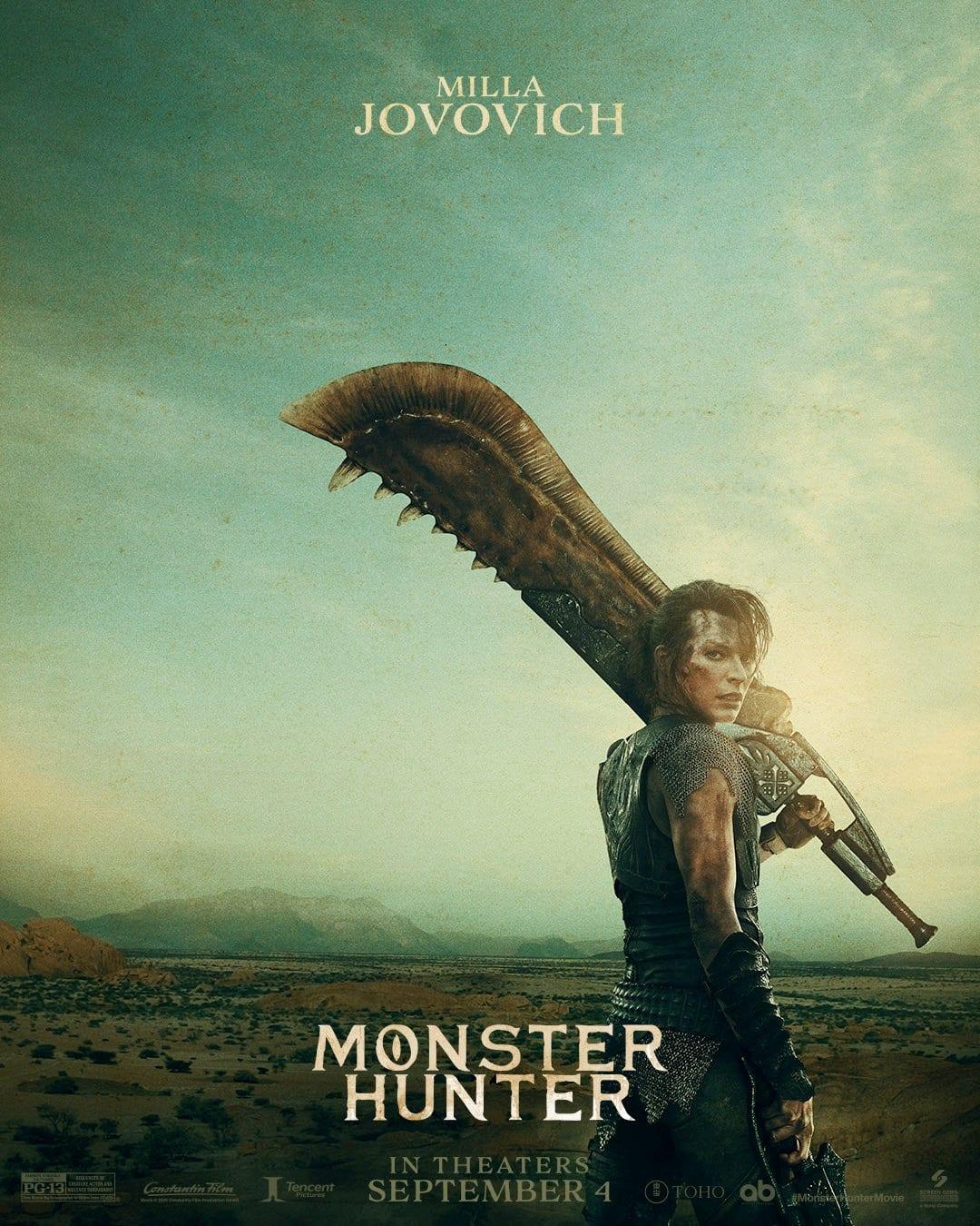 Monster Hunter filme poster protagonista
