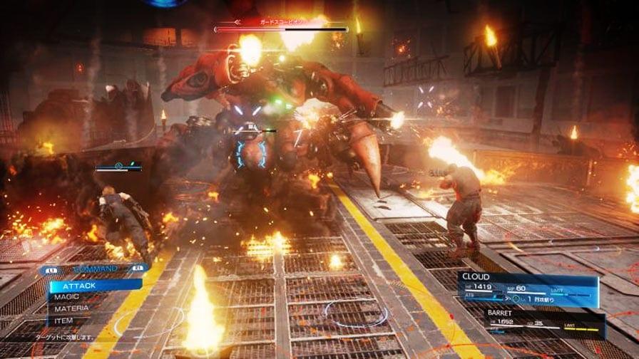 Final Fantasy VII Remake Demo Cloud chefão