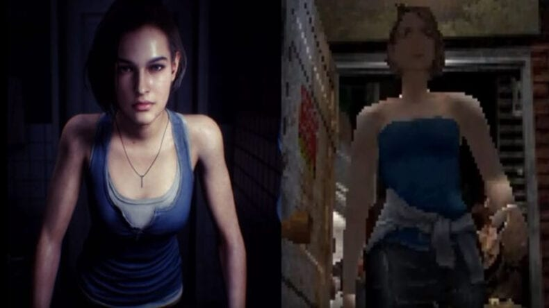 Resident Evil 3 comparação gráfica e de gameplay PS1