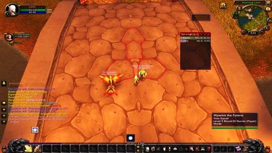 World of Warcraft pinto no jogo