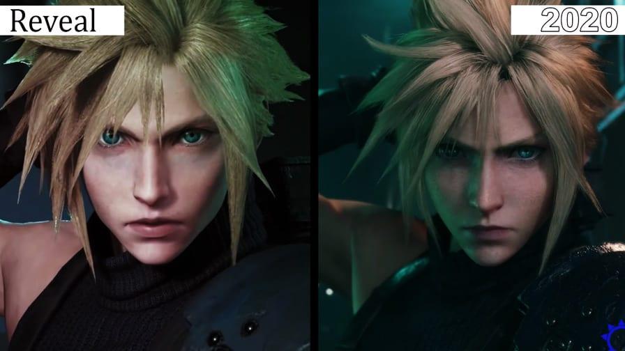 FF VII Remake comparação