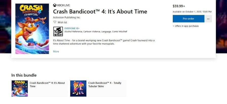 Crash Bandicoot 4, Crash