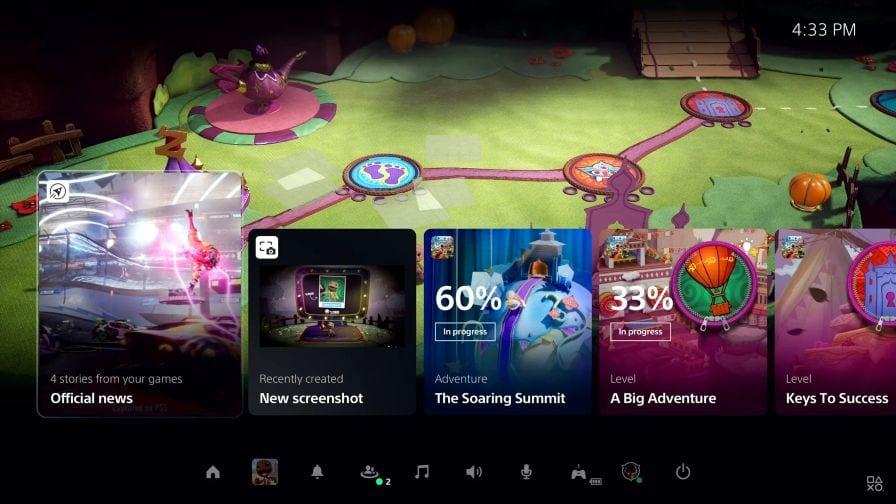 PS5 interface DualSense